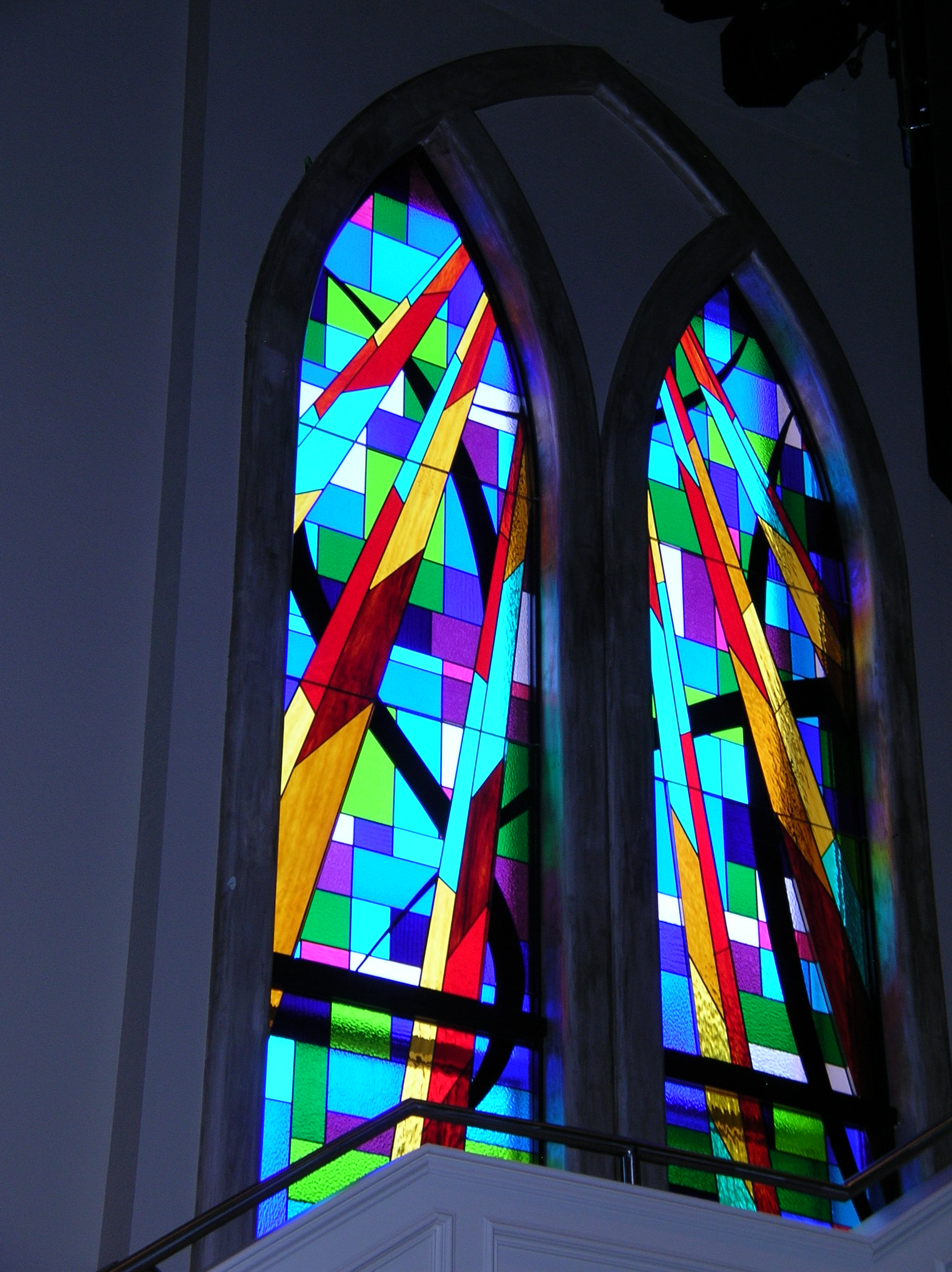 Church Stained Glass : Landmark tabernacle church stained glass project denver