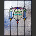 Antique Stained Glass Bluebell Windows