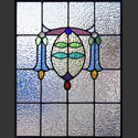 Antique Stained Glass Bluebells