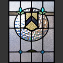 Antique Stained Glass Family Crests