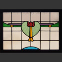Antique Stained Glass Heart