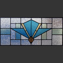 Antique Art Deco Stained Glass