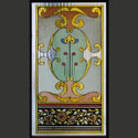 Painted Abstract Stained Glass Design