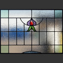 Antique Stained Glass Turnips