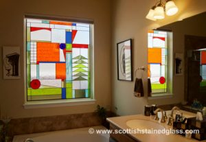 Custom Bathroom Stained Glass