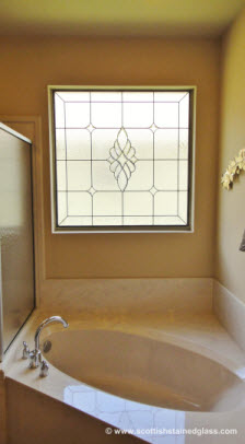 install bathroom stained glass