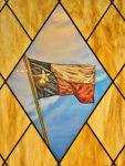 painted glass texas flag artwork denver