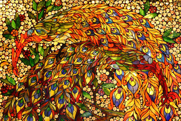 Stained Glass Bird Mosaic