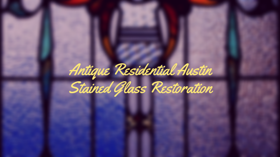 antique residential stained glass restoration