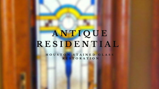 antique residential houston stained glass restoration