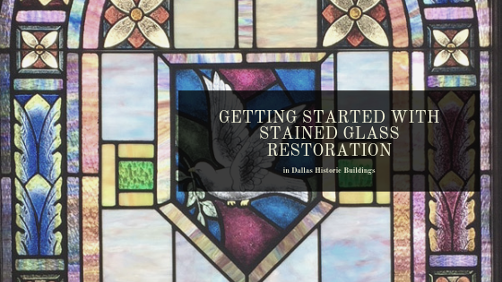 stained glass restoration dallas historic buildings