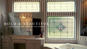 bathroom stained glass privacy dallas