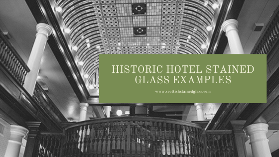 historic hotel stained glass houston