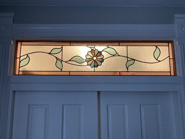 floral antique stained glass