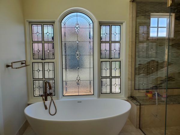 leaded beveled stained glass
