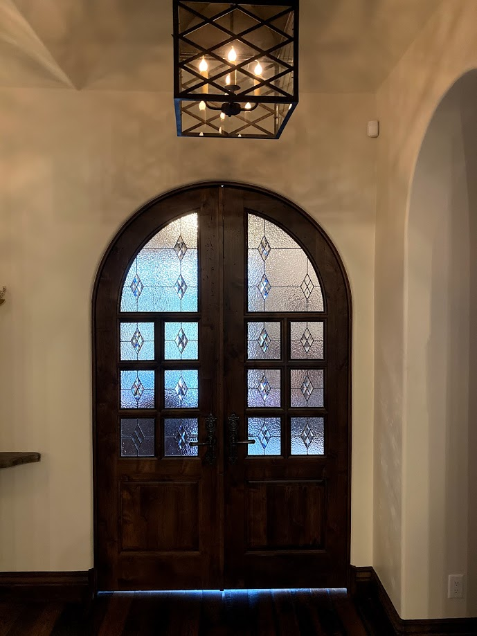 Stained Glass Entryway Doors