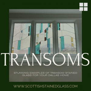 transom stained glass dallas home