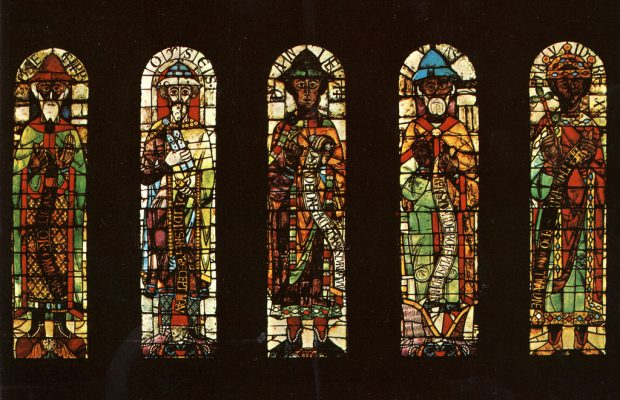 antique stained glass windows ausburg