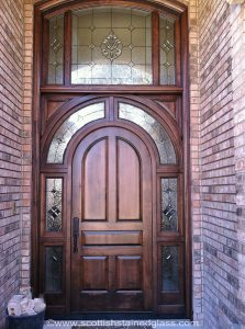 stained glass entryway in dallas
