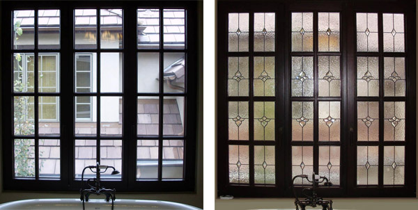 Even grid windows can easily benefit from privacy glass. 10 Best Before  amp  After Stained Glass Windows   Scottish Stained Glass