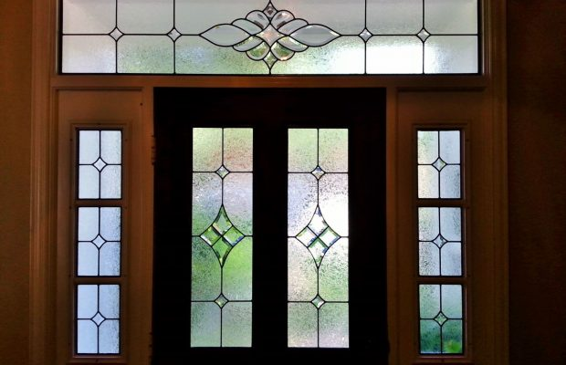 custom stained glass entryway