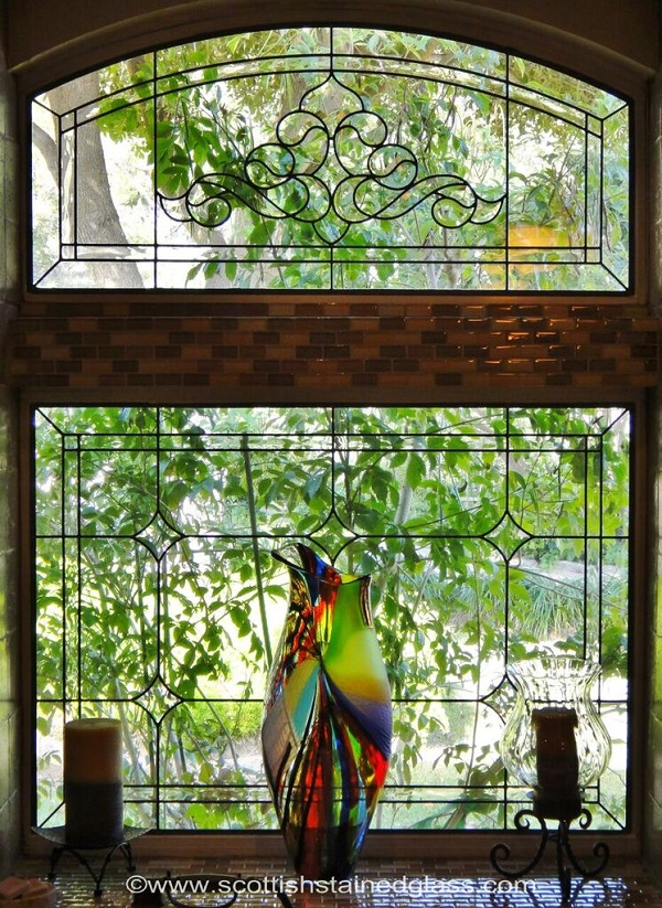 Denver co scottish stained glass custom studio for Stained glass kitchen windows