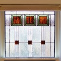 Custom Frank Lloyd Wright Inspired Stained Glass Denver