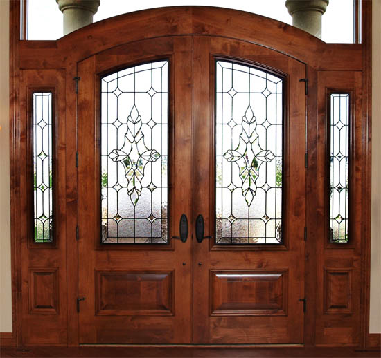 stained glass door denver home