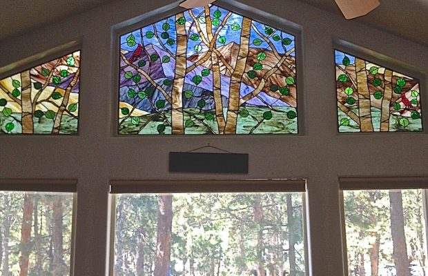 stained glass denver cabin